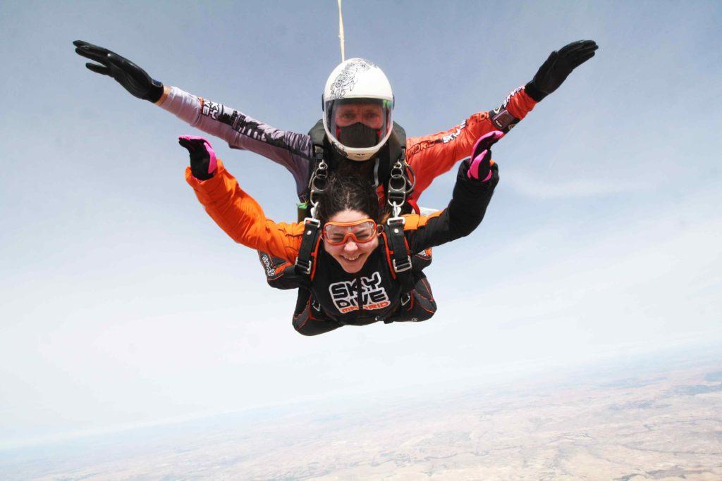 salto tandem con instructor